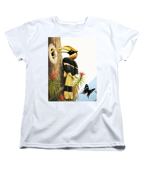The Hornbill Women's T-Shirt (Standard Cut) by R.B. Davis