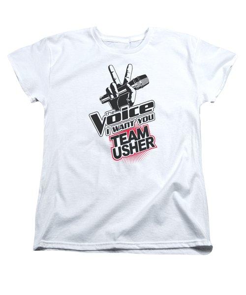 The Voice - Team Usher Women's T-Shirt (Standard Cut) by Brand A