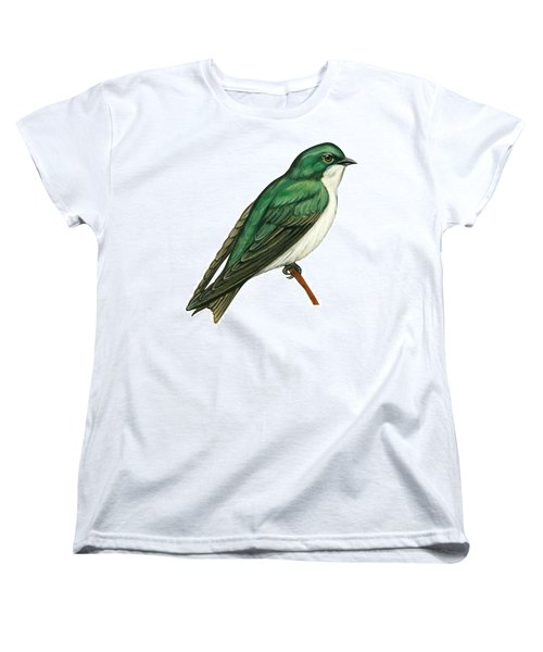 Tree Swallow  Women's T-Shirt (Standard Cut) by Anonymous