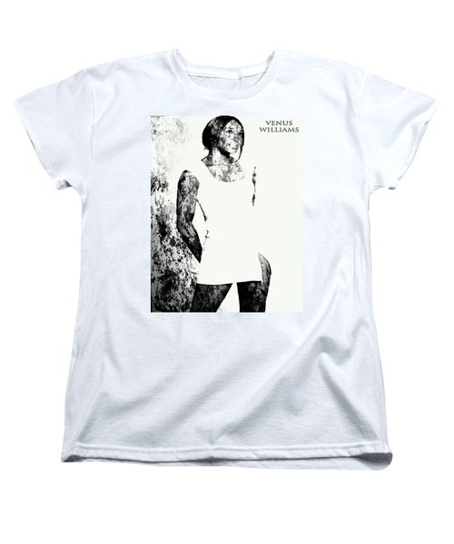 Venus Williams Paint Splatter 2c Women's T-Shirt (Standard Cut) by Brian Reaves