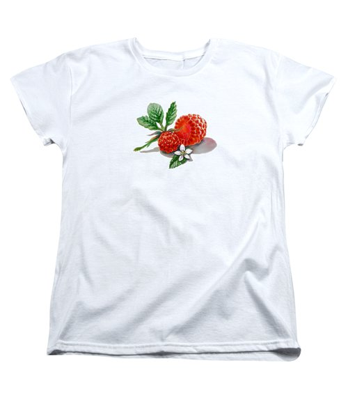 Artz Vitamins A Very Happy Raspberry Women's T-Shirt (Standard Cut) by Irina Sztukowski