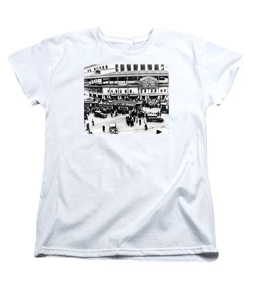 Vintage Wrigley Field Women's T-Shirt (Standard Cut) by Bill Cannon