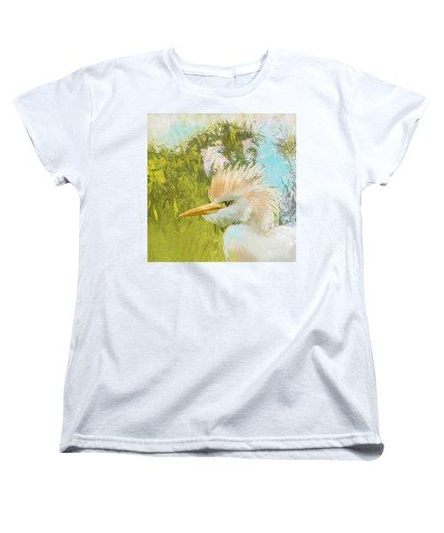 White Kingfisher Women's T-Shirt (Standard Cut) by Catf