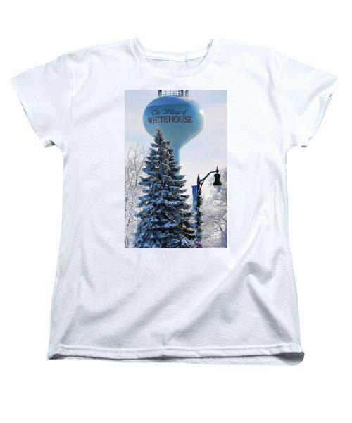 Whitehouse Water Tower  7361 Women's T-Shirt (Standard Cut) by Jack Schultz