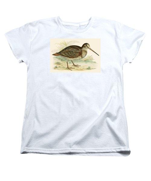 Woodcock Women's T-Shirt (Standard Cut) by Beverley R Morris