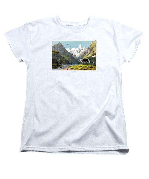 Yak Women's T-Shirt (Standard Cut) by Splendid Art Prints