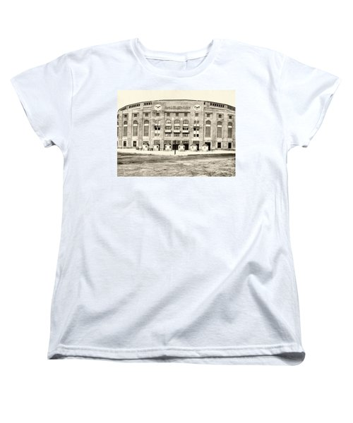 Yankee Stadium Women's T-Shirt (Standard Cut) by Bill Cannon