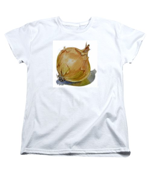 Yellow Onion Women's T-Shirt (Standard Cut) by Irina Sztukowski