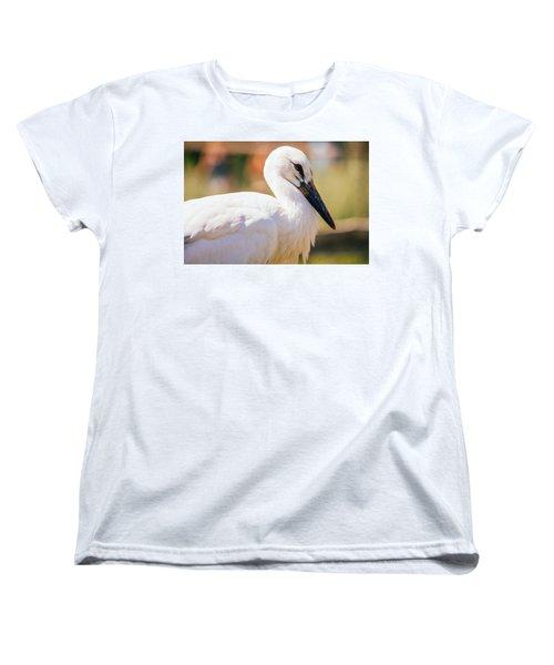 Young Stork Portrait Women's T-Shirt (Standard Cut) by Pati Photography