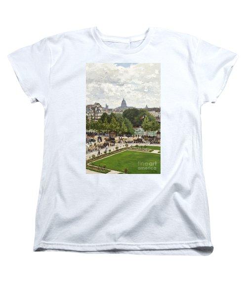 Garden Of The Princess Women's T-Shirt (Standard Cut) by Claude Monet
