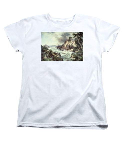 Point Lobos At Monterey In California Women's T-Shirt (Standard Cut) by Thomas Moran