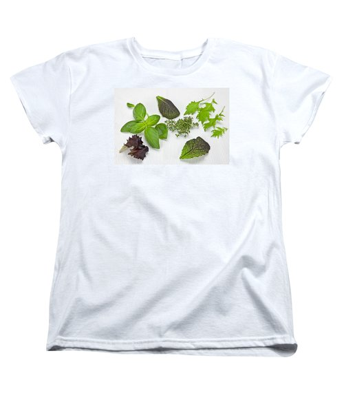 Salad Greens And Spices Women's T-Shirt (Standard Cut) by Joana Kruse