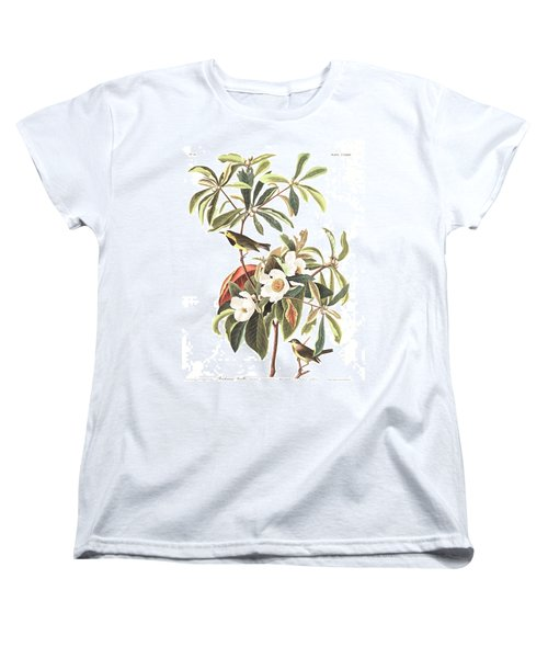 Bachman's Warbler  Women's T-Shirt (Standard Cut) by John James Audubon