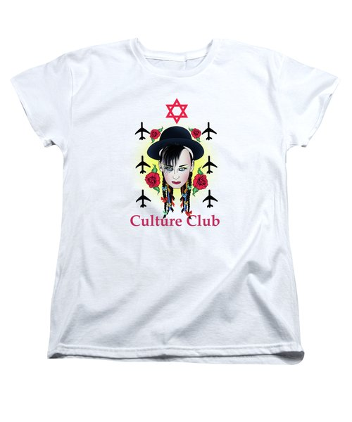 Boy George Women's T-Shirt (Standard Cut) by Mark Ashkenazi