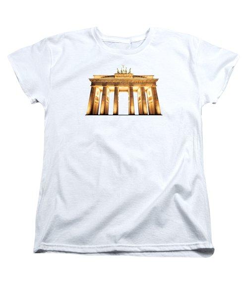 Brandenburg Gate Women's T-Shirt (Standard Cut) by Julie Woodhouse
