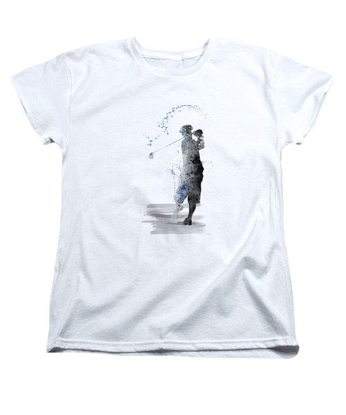 Golfer Women's T-Shirt (Standard Cut) by Marlene Watson