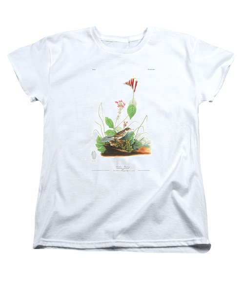 Henslow's Bunting  Women's T-Shirt (Standard Cut) by John James Audubon