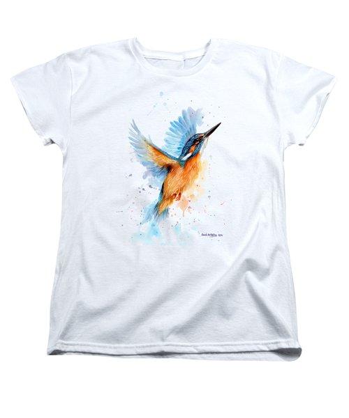 Kingfisher Women's T-Shirt (Standard Cut) by Sarah Stribbling