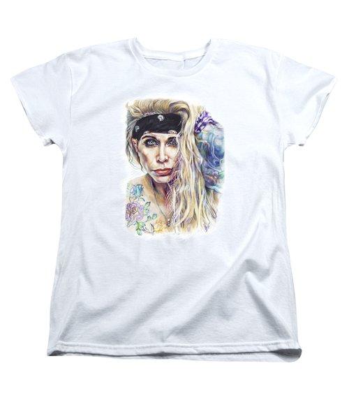 Lixxi Foxx Steel Panther Women's T-Shirt (Standard Cut) by Inna Volvak