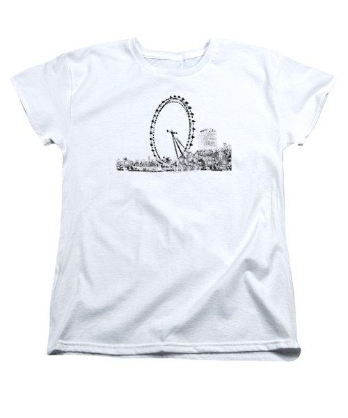 London Eye Women's T-Shirt (Standard Cut) by ISAW Gallery