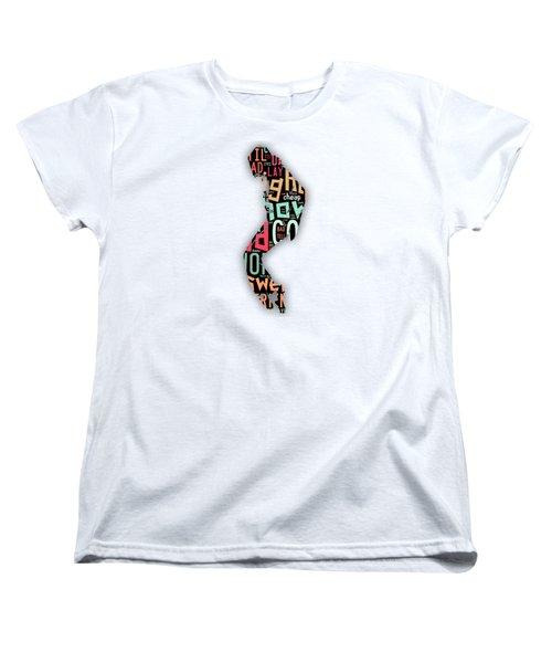 Michael Jackson I'm Bad Women's T-Shirt (Standard Cut) by Marvin Blaine
