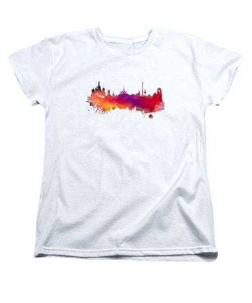 Moscow Skyline Women's T-Shirt (Standard Cut) by Justyna JBJart