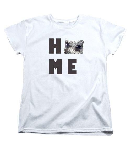 Oregon State Map Women's T-Shirt (Standard Cut) by Marlene Watson
