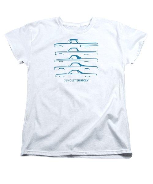 Pickupino Silhouettehistory Women's T-Shirt (Standard Cut) by Gabor Vida