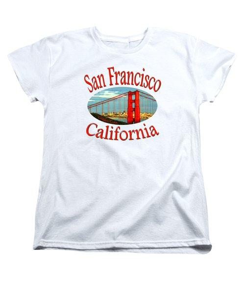 San Francisco California - Tshirt Design Women's T-Shirt (Standard Cut) by Art America Online Gallery