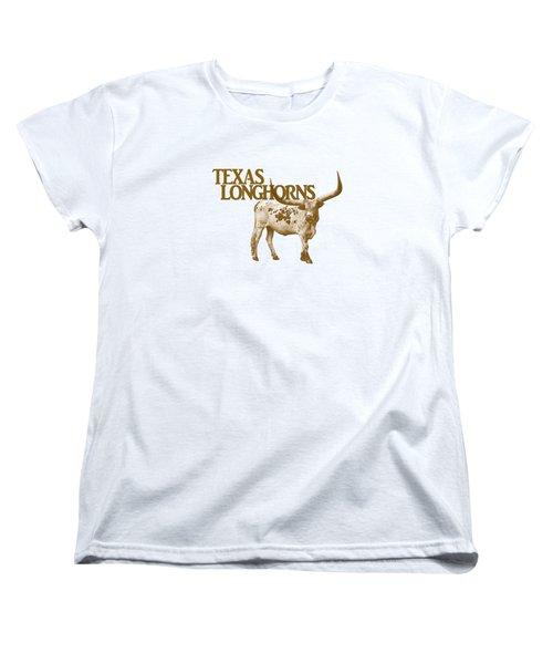 Texas Longhorns Women's T-Shirt (Standard Cut) by Priscilla Burgers