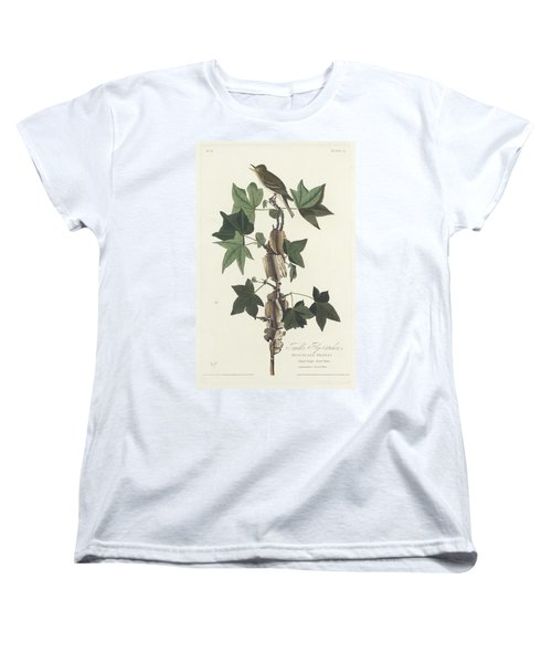 Traill's Flycatcher Women's T-Shirt (Standard Cut) by John James Audubon