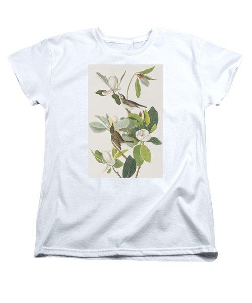 Warbling Flycatcher Women's T-Shirt (Standard Cut) by John James Audubon