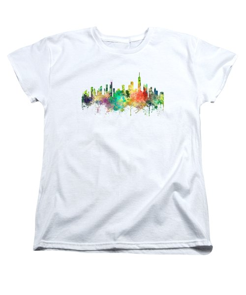 Chicago Illinois Skyline Women's T-Shirt (Standard Cut) by Marlene Watson