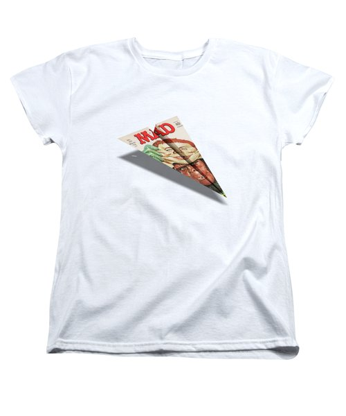 157 Mad Paper Airplane Women's T-Shirt (Standard Cut) by YoPedro