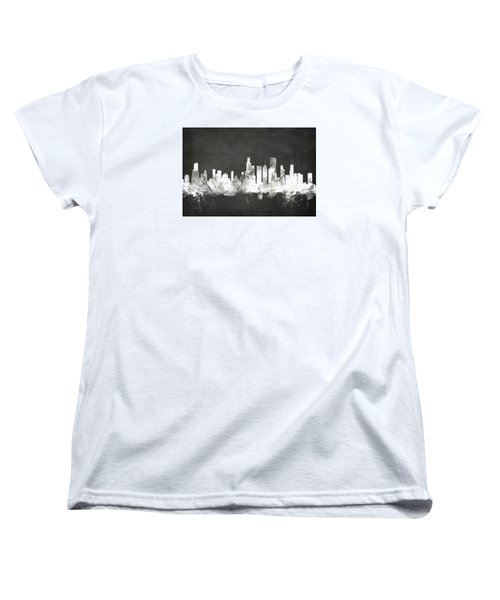 Chicago Illinois Skyline Women's T-Shirt (Standard Cut) by Michael Tompsett