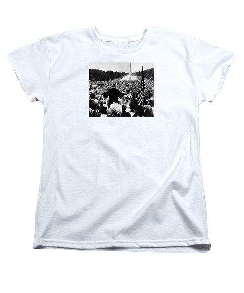 Martin Luther King Jr Women's T-Shirt (Standard Cut) by American School