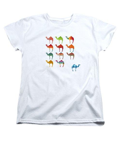 Camels Women's T-Shirt (Standard Cut) by Art Spectrum