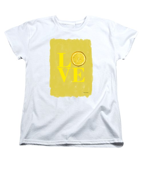 Lemon Women's T-Shirt (Standard Cut) by Mark Rogan