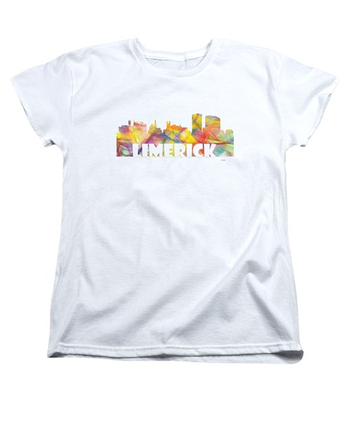 Limerick Ireland Skyline Women's T-Shirt (Standard Cut) by Marlene Watson