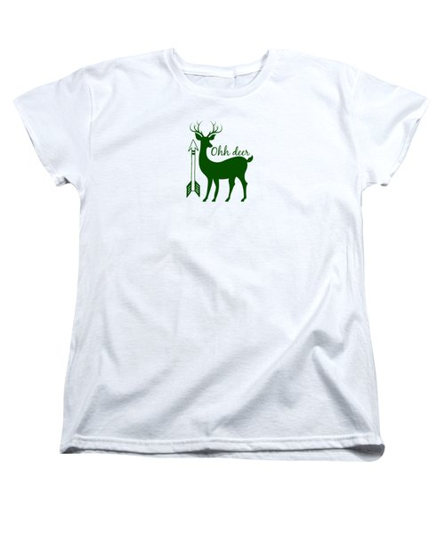 Ohh Deer Women's T-Shirt (Standard Cut) by Chastity Hoff