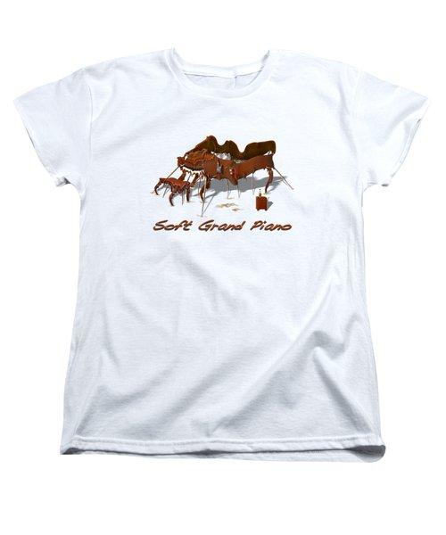 Soft Grand Piano  Women's T-Shirt (Standard Cut) by Mike McGlothlen