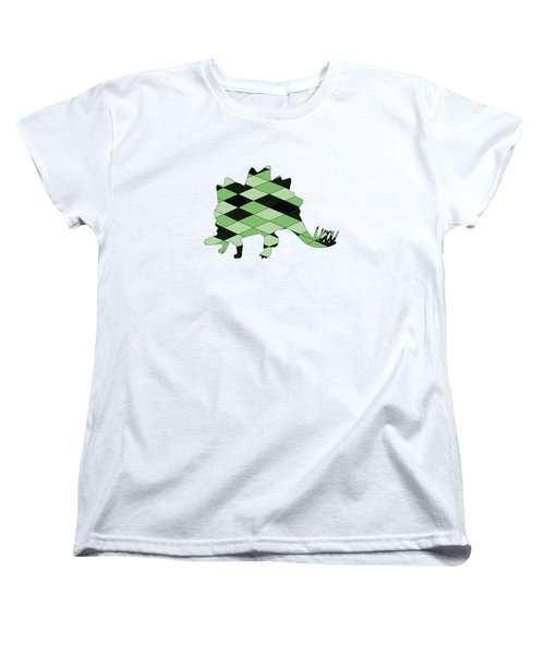 Stegosaurus Women's T-Shirt (Standard Cut) by Mordax Furittus