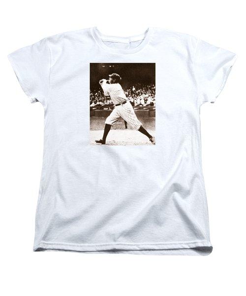 Babe Ruth Women's T-Shirt (Standard Cut) by American School
