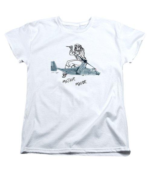 Bell Boeing Cv-22b Osprey Mojave Maude Women's T-Shirt (Standard Cut) by Arthur Eggers