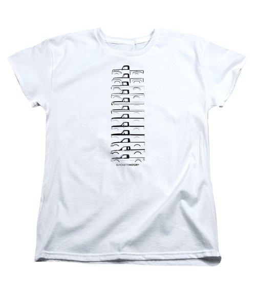 Ford F-series Silhouettehistory Women's T-Shirt (Standard Cut) by Balazs Iker