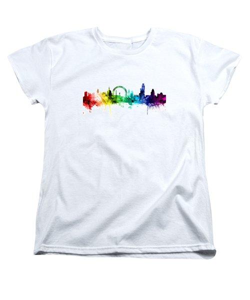 London England Skyline Women's T-Shirt (Standard Cut) by Michael Tompsett