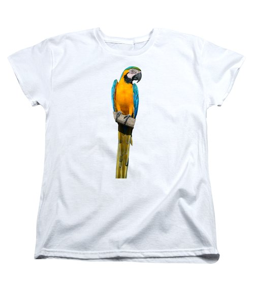 Blue And Gold Macaw Women's T-Shirt (Standard Cut) by George Atsametakis