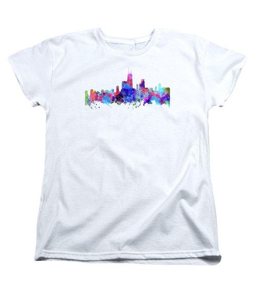 Chicago  Women's T-Shirt (Standard Cut) by JW Digital Art