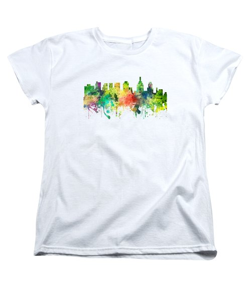Philadelphia Pennsylvania Skyline Women's T-Shirt (Standard Cut) by Marlene Watson