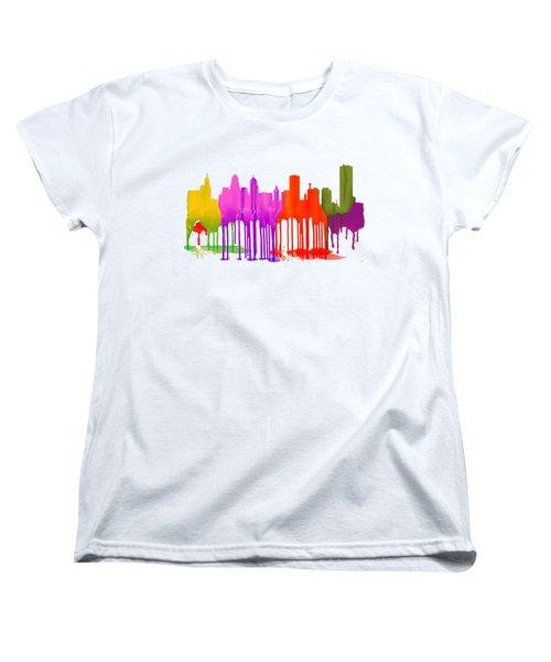 Buffalo New York Skyline Women's T-Shirt (Standard Cut) by Marlene Watson